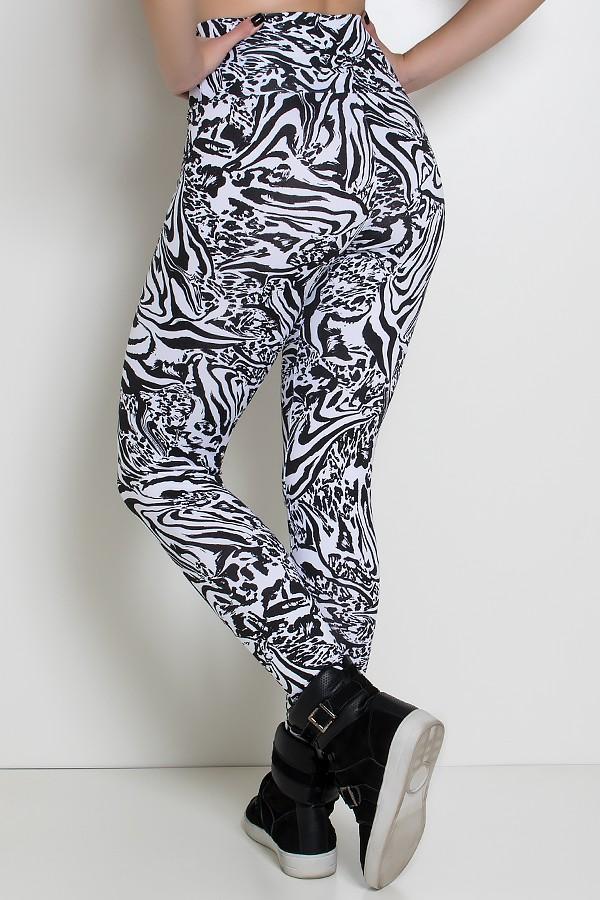 Legging Estampada Tigre (Preto e Branco)