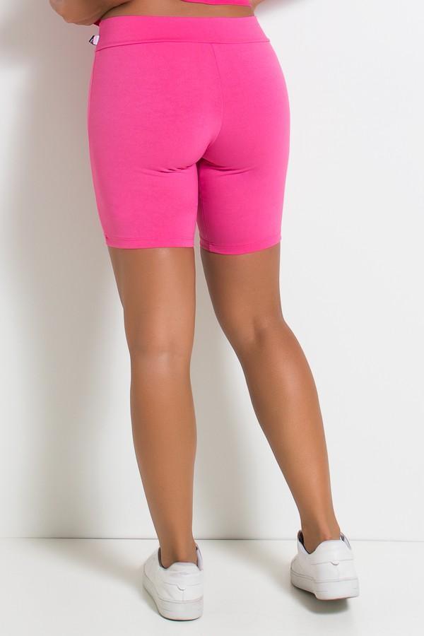Bermuda Fitness confeccionada em suplex liso Cor Rosa Pink